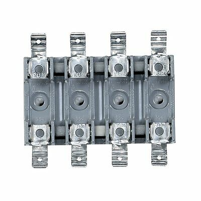 Chassis-Type 4-Position Fuse Block for 1 1/4 x 1/4 Fuses Rated 300 V 20 Amp