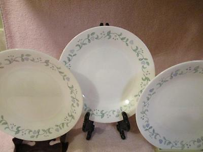 """1 Lot Of 2 Luncheon Plates Corelle Pattern """"country Cottage"""" By Corning"""