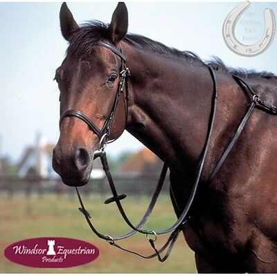 Windsor Equestrian Leather Breastplate – Running Martingale Attachment