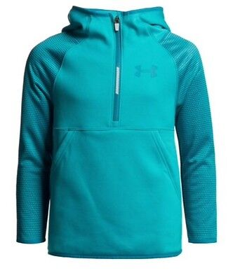NEW Under Armour Girls XL Storm-1 Fleece Hoodie Teal cold gear 14/16