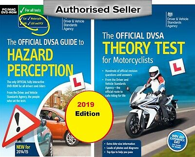 DVSA Motorbike/Motorcycle Theory Test Book and Hazard Perception DVD-ROM - NEW