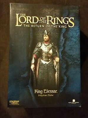 Sideshow Weta Lord of the Rings Elessar statue mint in box