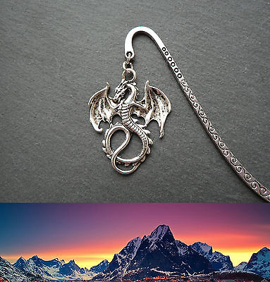 Lord of the Rings Bookmark Silver Dragon Smaug Middle-earth Ringer Gift Handmade