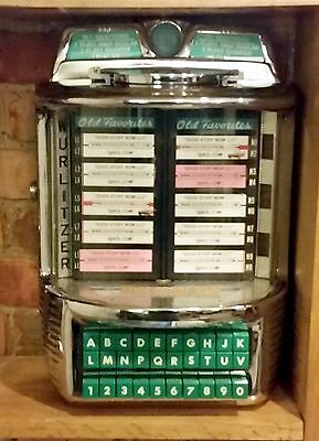 WURLITZER JUKEBOX WALLBOX 5252 - RESTORED and RECHROMED-Stock #5125-VERY RARE