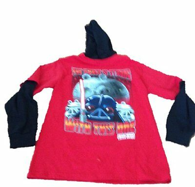Angry Bird Star Wars Force Is Strong Big Boys Xl Hoodie T Shirt