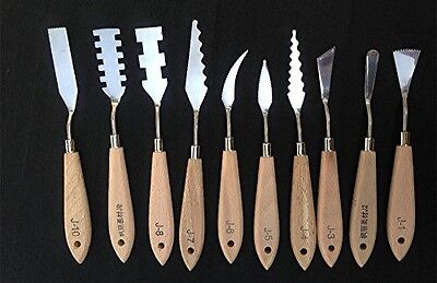 Togood 10pcs Stainless Steel Spatula Palette Knives For Artists