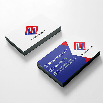 "2000 BUSINESS CARD MAGNETS 2""x3.5"" Custom Personalized Fridge Refrigerator"