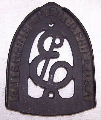 Antique Cast Iron Enterprise Mfg Co Trivet-Philadelphia Pa-Clothing Iron