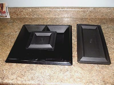Tupperware~5 Pc Get-Together Buffet Serving Set ~Snacks ~Chips & Dips ~Black