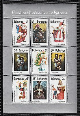 VB116 BAHAMAS #504a SOUVENIR SHEET OF STAMPS MINT OG NH VF $7.50 1981 CHRISTMAS
