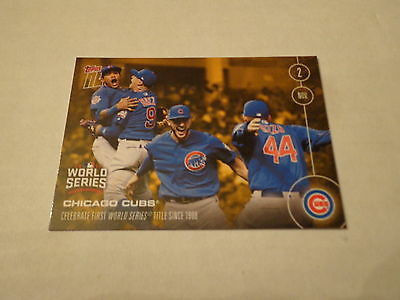 2016 Topps Now CHICAGO CUBS PARTY AFTER World Series GAME 7 VICTORY CARD #BON-7