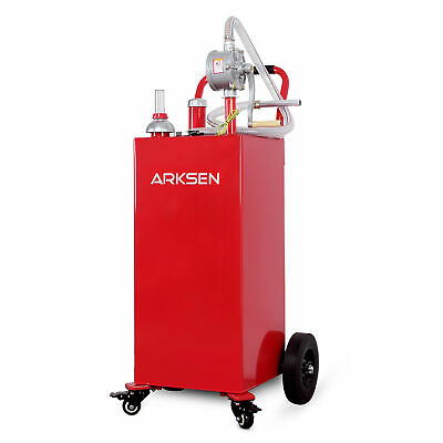 35 Gallon Gas Caddy Fuel Diesel Dispense Transfer Portable Jerry Tank with Pump