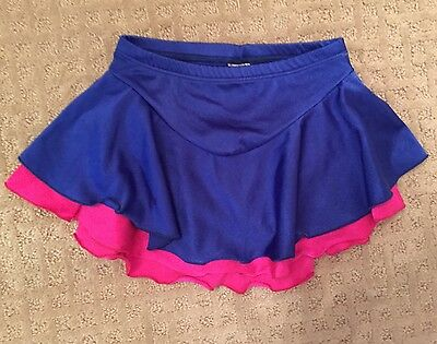 Major Motion Double Skirt Attached Trunks Dance Ice Skating Costume Child/Adult