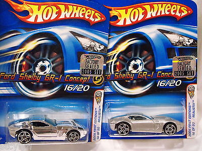 X2 Hot Wheels 2005 Factory set Realistix First Editions FORD SHELBY GR-1 CONCEPT