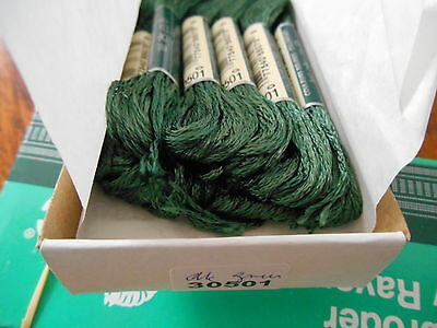 DMC EMBROIDERY THREAD - 100% RAYON -11 COLOURS - 8mt.SKEIN - IN ORIGINAL BOXES