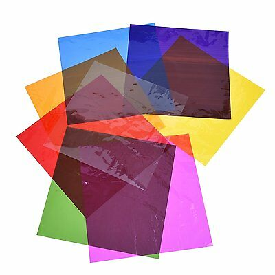 Outus Cello Sheets Cellophane Wraps, 8 x 8 Inch, 8 Colors, 104 Pieces
