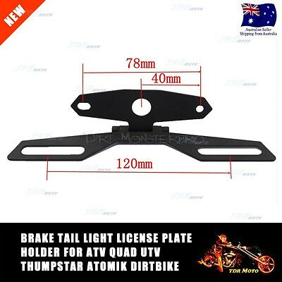 MOTORCYCLE LICENSE PLATE HOLDER TAIL LIGHT MOUNT Dirt bike ATV Youth Monkey Bike