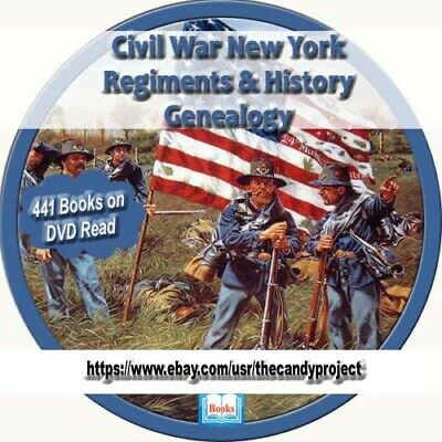 441 pdfs New York Civil War Regiment History Genealogy Collection Rare 3 DVDs