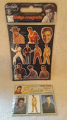 Official Elvis Fridge Magnet Sets X 2 Packs Signature Product Rare 1997 Sealed