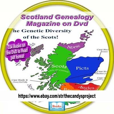3 DVDs Scotland History Genealogy 379 Vintage Out of Print Rare Books