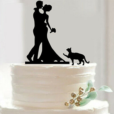 15.6*19.6cm Couple Kisses Acrylic Wedding Lovers Cake Topper Party Favors Decals