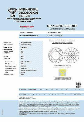 DIAMANT 0.25ct Brillant SI1 Top Wesselton (G) IGI