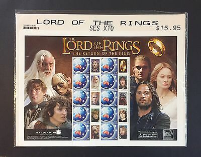 Lord Of The Rings The Return Of The King -Stamp Set - Australia Post - Sealed