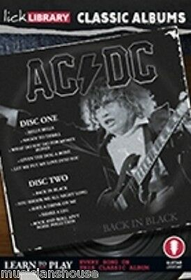 LICK LIBRARY Learn to Play AC/DC CLASSIC ALBUMS BACK IN BLACK LESSON Guitar DVD