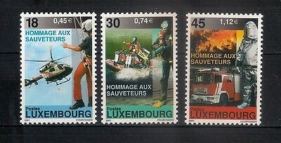 LUXEMBOURG  2001 ** MNH  Rescue Workers  - 6/10