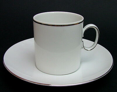 Thomas Medallion 745 Pattern Thin Platinum Line Coffee Cups & Saucers - in VGC