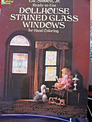 Dollhouse Stained Glass Windows for Hand Coloring Dover Publications MINT