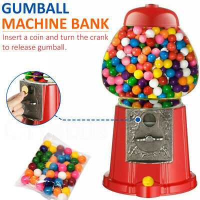 Vintage Style Red Bubble Gum Machine Bank Dispenser Candy Gumball For 3+ Years