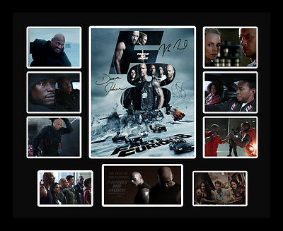 New Fast & Furious 8 - Fate of the Furious Signed Limited Edition Memorabilia