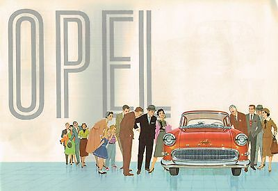 1958 OPEL Brochure / Catalog with Spec's: OLYMPIA,REKORD,CARAVAN