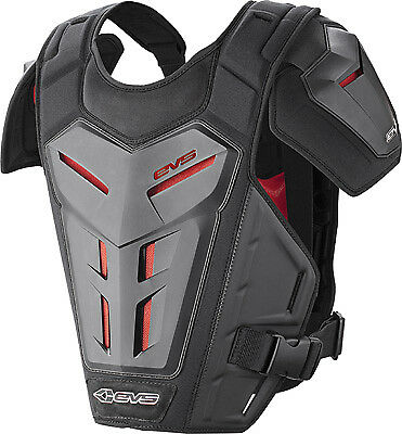 EVS Revo 5 Black Adult MX Offroad Motorcycle Riding Chest Protector Roost Guard