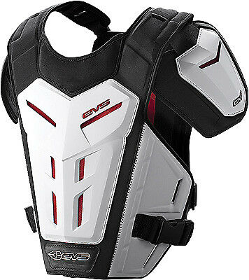 EVS Revo 5 White Adult MX Offroad Motorcycle Riding Chest Protector Roost Guard