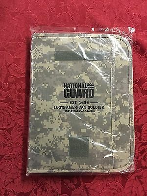 NEW National Guard ACU Est.1636 Camo Army Portfolio Legal Notepad