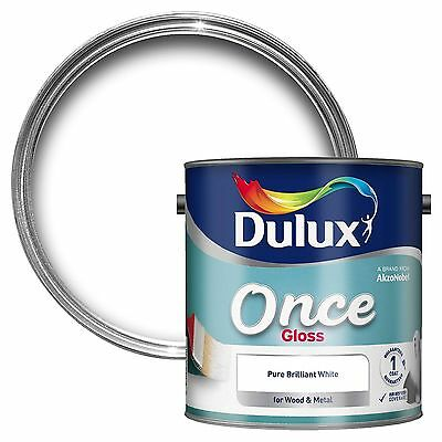 Dulux 2.5L Once Gloss Brilliant White For Wood And Metal Interior Exterior