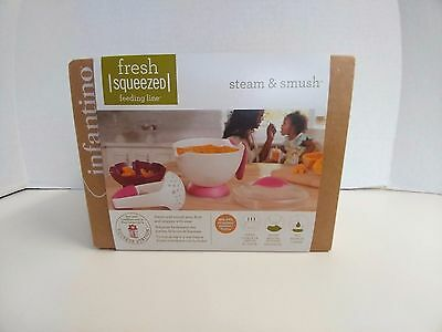 Infantino Fresh Squeezed Feeding Line Steam and Smush Baby Food Free Shipping