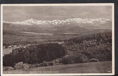 Scotland Postcard - The Snow Clad Cairngorms From View Point, Grantown  B2488