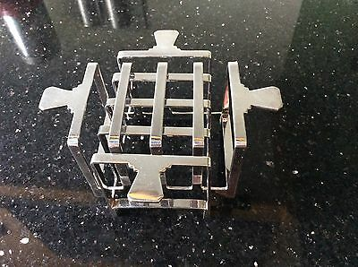 Pair Antique Art Deco Princes plate Mappin and Webb toast racks