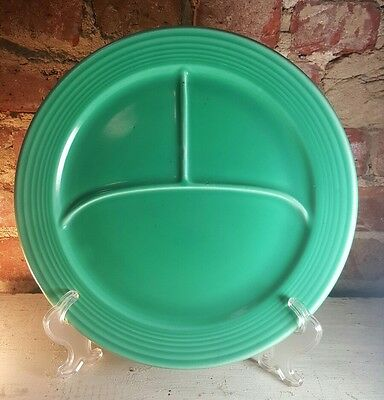 Vintage Fiesta Dinnerware Green Grill Plate 3 Part Compartment 12""