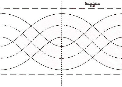 Borders Made Easy Pattern 101 - 1.75 Inch And 3 Inch By 26 Feet