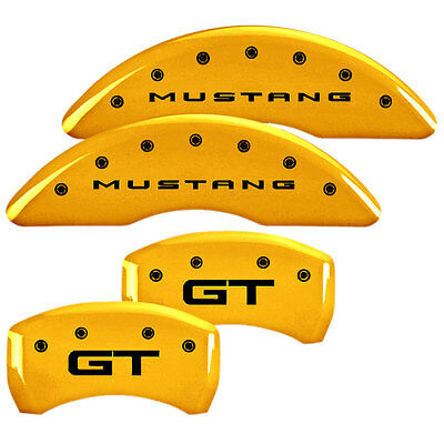 MGP 10201S2MGYL Mustang Caliper Cover Yellow Performance GT 2015-2017