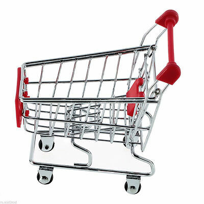 Mini trolley Phone Holder Baby Toy Mini Supermarket Shopping Handcart Gift