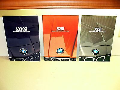 BMW 733i sales brochure-bmw 633csi brochure-bmw 528i brochure-original bmw lot