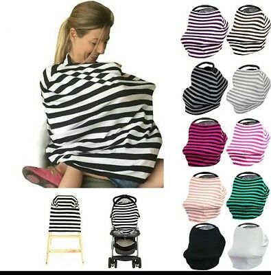 Nursing Cover Up Breast Feeding Baby Infant Cloth Stroller Canopy Formula Bottle