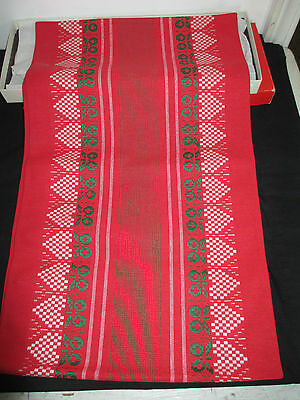 "Vintage Marshall Fields Christmas Table Runner, 44"" x 12"", New Open Box"