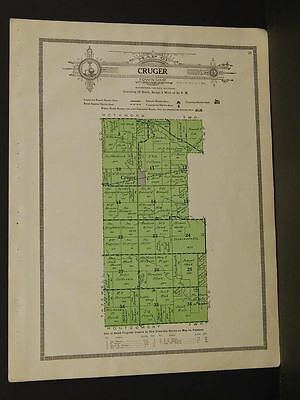 Illinois Woodford County Map Cruger Township  1920  W5#80