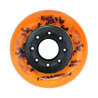 "8 Rollen TEMPISH ""BLACK ICE""  80mm 85A FREESTYLE HOCKEY FREESKATE  WHEELS TOP!"
